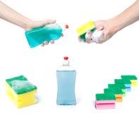 dishwashing narzędzia fotografia stock