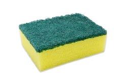 Dishwashing sponge isolated on a white background royalty free stock photography