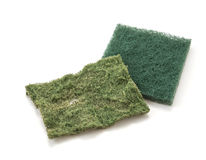 Dishwashing sponge Stock Photo