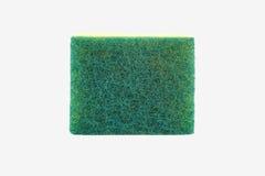 Dishwashing sponge on white background Royalty Free Stock Photography