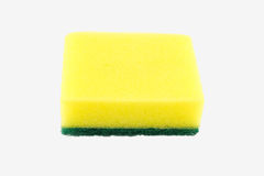 Dishwashing sponge on white background Stock Photos