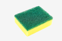 Dishwashing sponge on white background Royalty Free Stock Photo