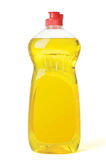 Dishwashing van de fles vloeistof stock foto