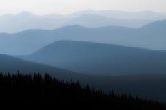 Disiga berg Arkivbilder