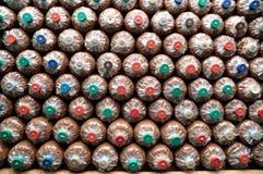 Disimballi la protezione della segatura dell'azienda agricola del fungo Fotografia Stock Libera da Diritti