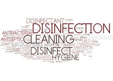 Disinfect Word Cloud Concept Stock Photos