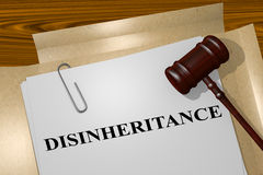 Disinheritance - legal concept Royalty Free Stock Image