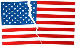 The Disintegration of the United States after election in USA Royalty Free Stock Photography