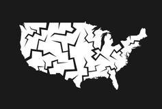 Disintegration of USA Royalty Free Stock Image