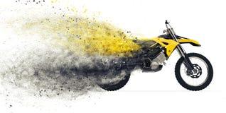 Disintegrazione della bici della sporcizia royalty illustrazione gratis