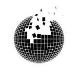 Disintegrazione della sfera Illustrazione Vettoriale