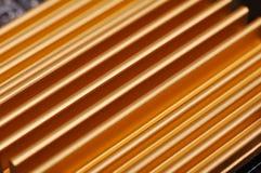 Disipador de calor amarillo del chipset Fotografía de archivo libre de regalías