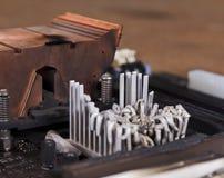 Disipador de calor fundido Imágenes de archivo libres de regalías