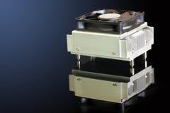 Disipador de calor y ventilador Imágenes de archivo libres de regalías