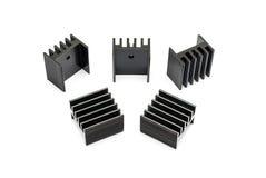 Disipadores de calor de aluminio negros Imagenes de archivo