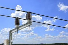 Disjoncteur à haute tension de transformateur avec l'insulat électrique Photos libres de droits