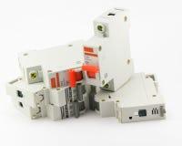 Disjoncteur pour l'électricien photos libres de droits