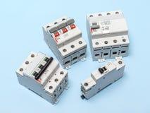 Disjoncteurs électriques images stock