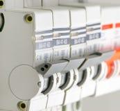 Disjoncteurs installés photographie stock