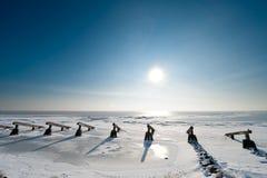 Disjuntores de gelo no inverno Fotos de Stock Royalty Free