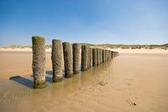 Disjuntores de onda na praia Foto de Stock