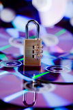 The disk. Protected by a code Royalty Free Stock Image