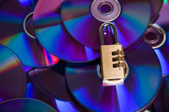 The disk. Protected by a code Stock Images