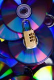 The disk. Protected by a code Royalty Free Stock Images