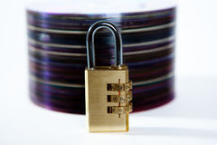 The disk. Protected by a code royalty free stock photo