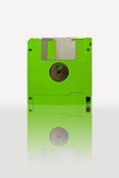 Disk. Green back of diskette isolated on white background Royalty Free Stock Photos
