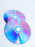 Disk. Two Disk isolated on white background royalty free stock photo