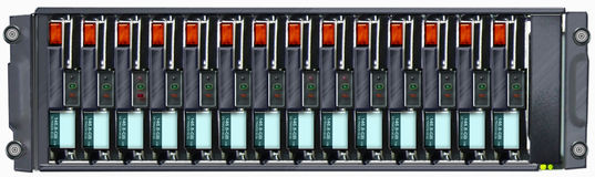 Disk Array. Front view illustration Royalty Free Stock Photography