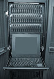 Disk Array and Server Control Station Stock Photo
