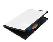 Disk and a blank box for the disk Royalty Free Stock Images