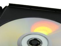 Disk in box Stock Images