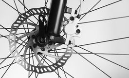 Disk brake of the bicycle Royalty Free Stock Photos