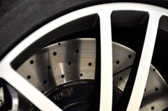 Disk brake closeup. Sports car disk brake closeup Stock Image