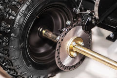 Disk brake of a four-wheeled bike Stock Photos