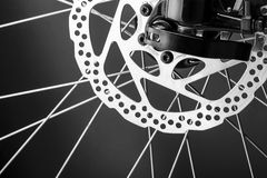 Disk brake of a mountain bicycle Royalty Free Stock Image