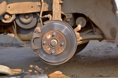Disk brake system. Royalty Free Stock Photos