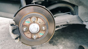 Disk brake at wheel Royalty Free Stock Images