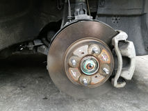 Disk brake without wheel Royalty Free Stock Image