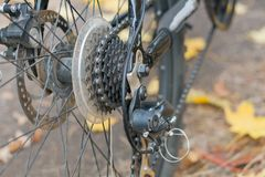Disk brakes by sports bicycle Royalty Free Stock Photography
