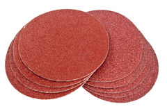 Disk of brown sandpaper Stock Images