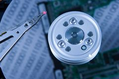 Disk Controller. Disk Drive Controller and head Stock Images