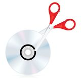 Disk cutting icon Royalty Free Stock Photo