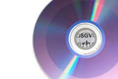 Data protection disk. A disk with data protection law Royalty Free Stock Images
