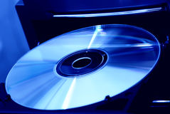 Disk in the drive Royalty Free Stock Photos