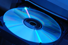 Disk in the drive Royalty Free Stock Image