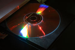 Disk drive with CD Stock Photo